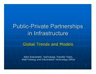 Public Private Partnerships in Infrastructure: Global ... - Fiscal Reform