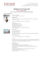 Further information: pdf-file - Galerie Fischer Auktionen AG