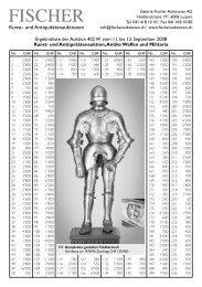 Ergebnisliste Auktion Antiker Waffen und Militaria 11. bis 13 ...