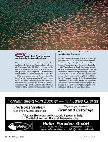 Teichwirtschaft + Aquakultur - Fischmagazin.de