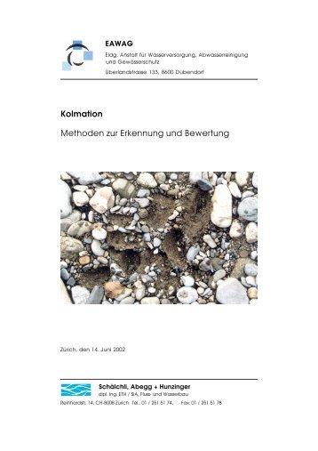 Kolmation Methoden zur Erkennung und Bewertung - Fischnetz