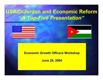 "USAID/Jordan and Economic Reform ""A Top-Five ... - Fiscal Reform"