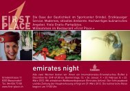 emirates night - First Place