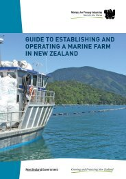 guide to establishing and operating a marine farm in new zealand
