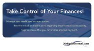Take Control of Your Finances! - FIS