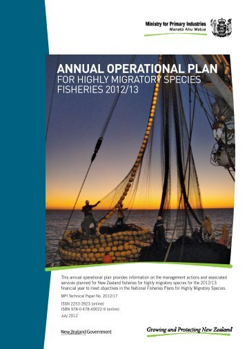 Annual Operational Plan for HMS Fisheries 2012/13 - Ministry of ...