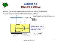 Lezione 14 Camere a deriva - Fisica