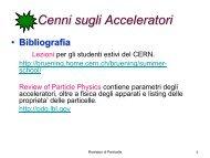 Lezione 2 Acceleratori - Fisica