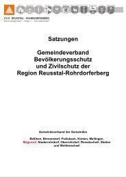 Satzungen Gemeindeverband Bevölkerungsschutz und Zivilschutz ...
