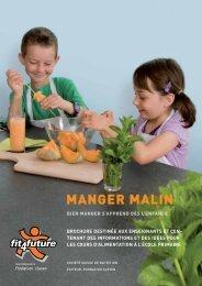 Brochure pour enseignants «Manger Malin - Fit-4-Future
