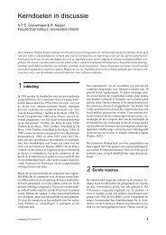 Kerndoelen in discussie - Freudenthal Instituut - Universiteit Utrecht