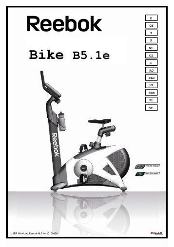 Handbuch Bike B 5.1e - Reebok Fitness
