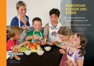 Elternbroschüre gemeinsam kochen und essen - Fit for Future