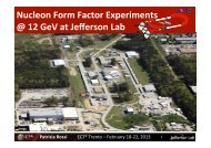 Nucleon Form Factor Experiments @ 12 GeV at Jefferson Lab - Fisica