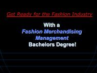 Career Paths with FMM Degree - Fashion Institute of Technology