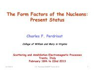 The Form Factors of the Nucleons: Present Status - Fisica