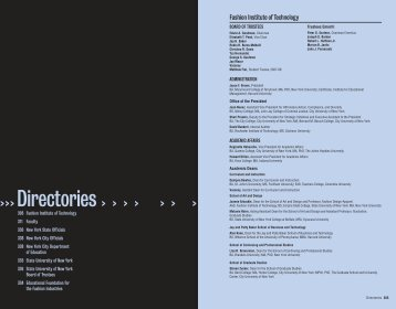 Directories - Fashion Institute of Technology