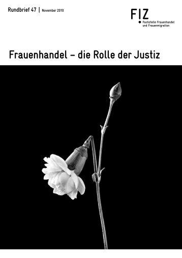 Frauenhandel – die Rolle der Justiz - FIZ Fachstelle Frauenhandel ...