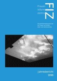 FIZFrauen informations zentrum Jahresbericht 1998