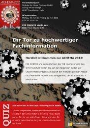 geht´s zum Messeflyer - FIZ Chemie Berlin