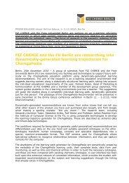PRESSEMITTEILUNG zur Online Educa, 1 - FIZ Chemie Berlin
