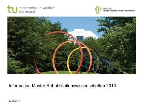 als Download - Fakultät Rehabilitationswissenschaften - TU Dortmund