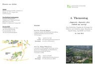 4. Thementag - Fakultät Rehabilitationswissenschaften - TU Dortmund