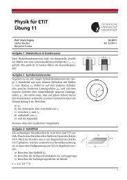 Physik für ETiT Übung 11