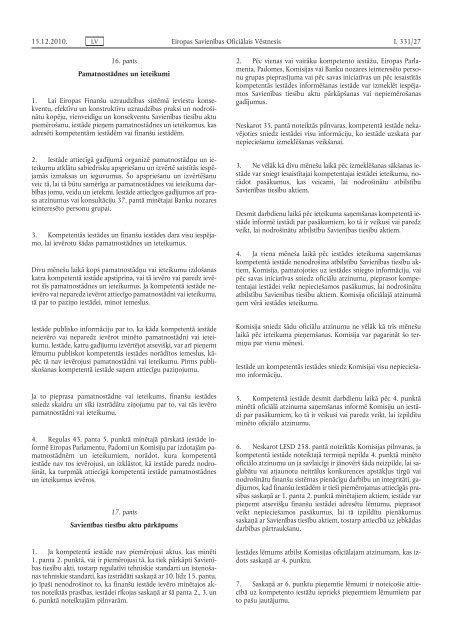 Eiropas Parlamenta un Padomes Regula (ES) Nr. 1093 ... - EUR-Lex