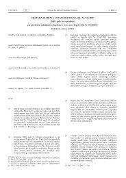 Eiropas Parlamenta un Padomes Regula (EK) Nr. 924 ... - EUR-Lex