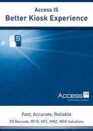 Download the ACCESS IS BETTER KIOSK EXPERIENCE brochure