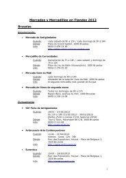 Mercados y Mercadillos en Flandes 2013 - Flandes y Bruselas