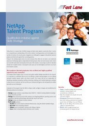 NetApp Talent Program Overview pdf - Fast Lane