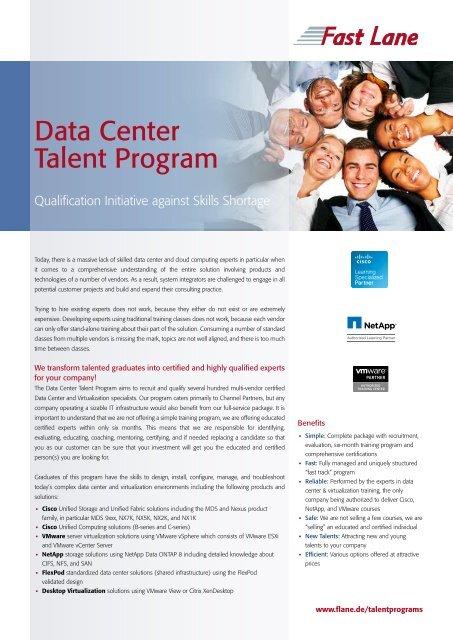 Data Center Talent Program - Fast Lane