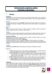 Información práctica sobre Flandes y Bruselas