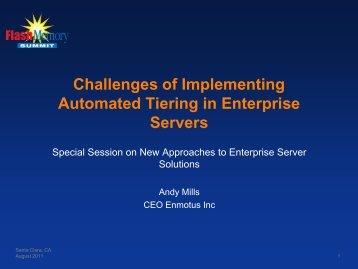 Challenges of implementing automated tiering in enterprise servers