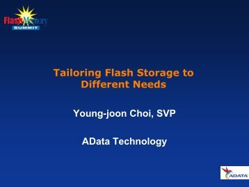 Title of Presentation - Flash Memory Summit