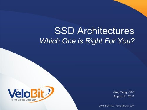 SSD Architectures - Flash Memory Summit