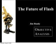 OBJECTIVE ANALYSIS - Flash Memory Summit