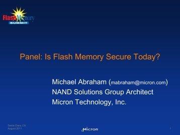 Panel - Flash Memory Summit