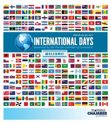 2011 International Days Program - Florida Chamber of Commerce