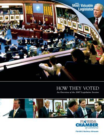 2007 How They Voted - Florida Chamber of Commerce