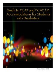 Guide to FCAT and FCAT 2.0 Accommodations - Florida Department ...