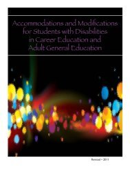 Accommodations and Modifications for Students with Disabilities in ...