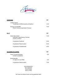 speisekarte [pdf] - Fleming's Hotels und Restaurants