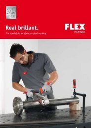 Metall surface finishing - FLEX