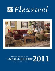 ANNUAL REPORT - Flexsteel Industries, Inc.