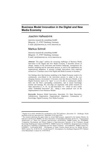 Business Model Innovation in the Digital and New Media ... - flexmedia