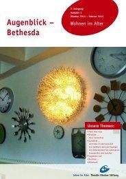 Augenblick - Bethesda, Ausgabe Oktober 2011 bis Februar 2012