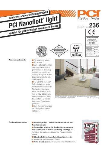 PCI Nanoflott ® light - Fliesen Lerche